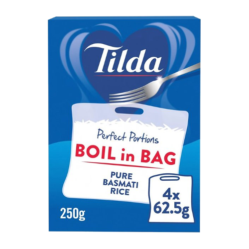Tilda Basmati Reis, Cook in Bag 4x62,5g